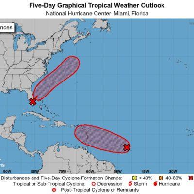 MONITOREO EN EL ATLÁNTICO: Vigilan depresión tropical a 4 mil 500 kilómetros de Cancún