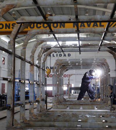 ASÍ CONSTRUYEN BARCOS SARGACEROS: Se espera que a principios de octubre entre en operación la primera de cuatro embarcaciones para combatir el recale del alga