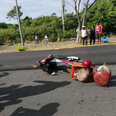 Derrapa por causa de obras en Chetumal