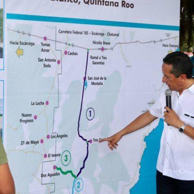 Carlos Joaquín utiliza mapa geográfico que da por un hecho que la superficie limítrofe en litigio pertenece a Campeche