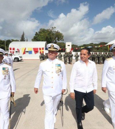 El vicealmirante Eduardo Rojas Pineda asume el mando de la 11/A Zona Naval en Chetumal
