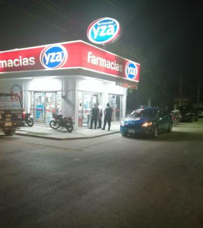 Sujetos asaltan dos farmacias en Chetumal en 10 minutos