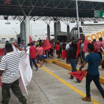 Estrenan 'Ley Garrote' en desalojo de accesos a pozos petroleros en Tabasco, aunque no hay detenidos