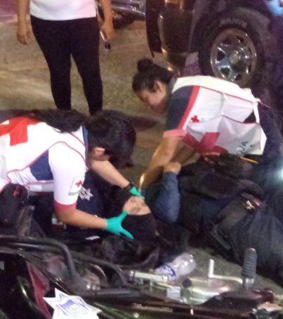 Atropellan a dos policías en Chetumal