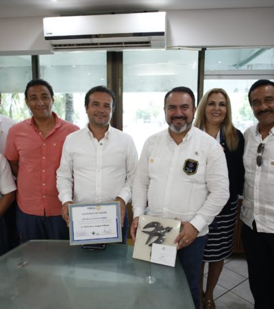 Nombran a Pedro Joaquín miembro honorario del Club Rotario de Cozumel