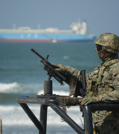 Rescatan marinos a víctima de secuestro en Coatzacoalcos