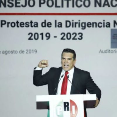 Augura Alejandro Moreno derrota de Morena al protestar como presidente nacional del PRI