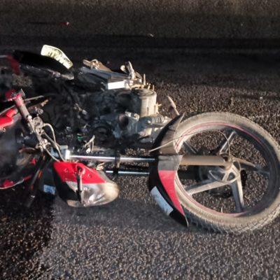 Muere motociclista tras ser chocado cerca de Puerto Aventuras