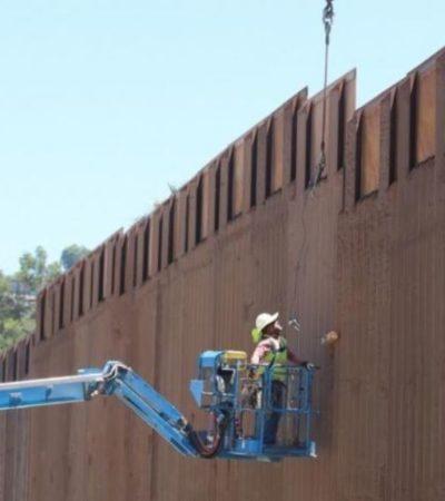 Presume Trump el 'grande, hermoso y nuevo' muro que construye en la frontera con México
