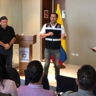 Protección Civil capacita a colombianos sobre la temporada de huracanes en Cancún
