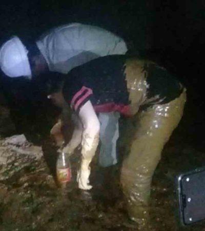 Buscaban agua y encuentran petróleo en Tabasco
