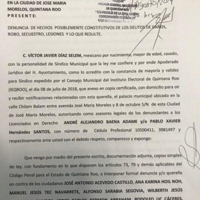 Denuncia Ayuntamiento de José María Morelos a 13 trabajadores por supuestos daños dentro del palacio municipal durante manifestación
