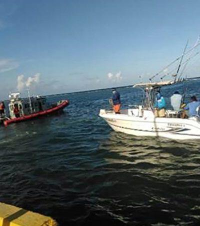 Rescata Marina a lancha que quedó a la deriva durante torneo en Mahahual
