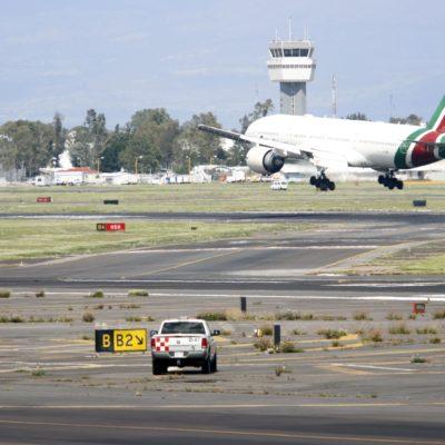 Optan pilotos por 'idas al aire' ante saturación de pistas en el AICM