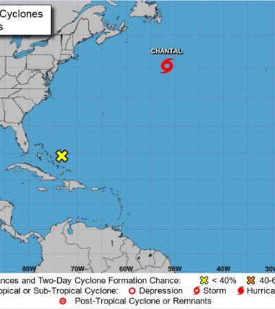 Se forma tormenta 'Chantal' en el Atlántico, a 3 mil 500 km de las costas de Quintana Roo