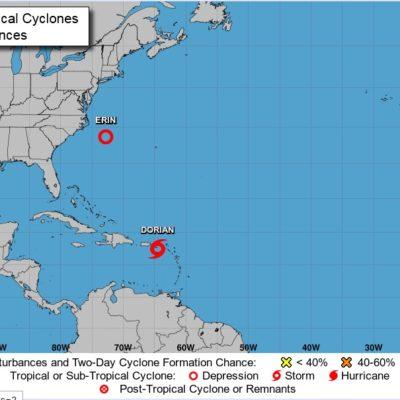 Se forma 'Erin' a mil 800 kilómetros de Quintana Roo