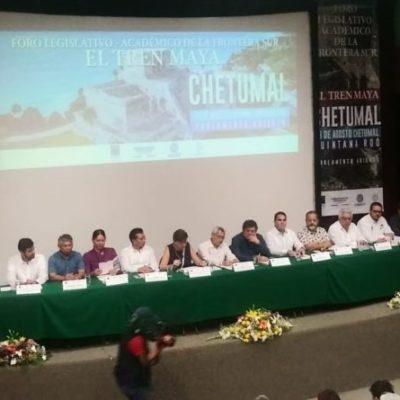 Empresarios y académicos respaldan la construcción del Tren Maya en la zona sur de Quintana Roo