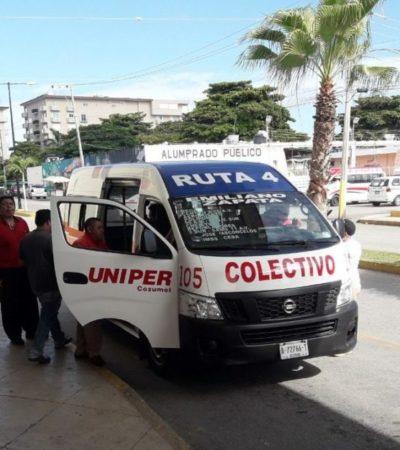 Piden transportistas de Cozumel que niños de cinco años en adelante paguen pasaje, ante supuesta violación al reglamento