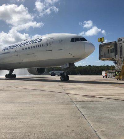 SE ABRE POTENCIAL MERCADO TURÍSTICO: Arriba a Cancún primer vuelo directo a Turquía