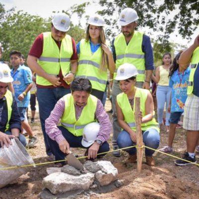 Realizan modernización y mantenimiento de la Unidad Deportiva de Tulum