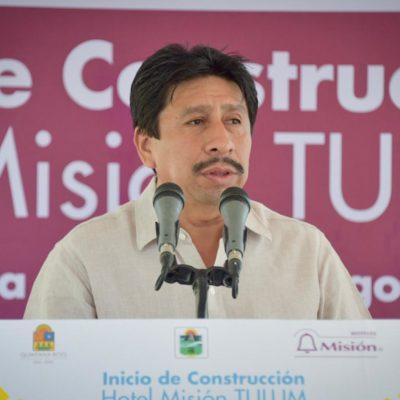 Víctor Mas Tah se reúne con funcionarios encargados del Tren Maya en el tramo Tulum