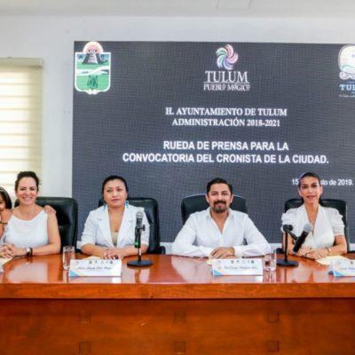 Ayuntamiento de Tulum emite convocatoria para elegir al Cronista de la Ciudad