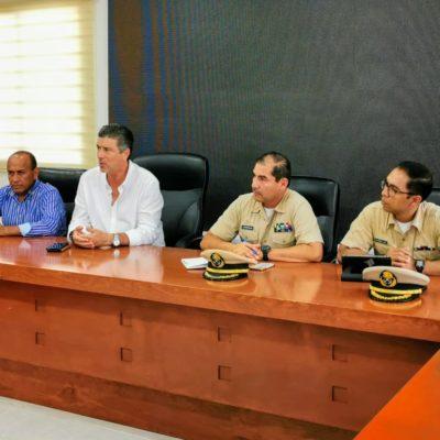 Confirman llegada en próximos días de nueva embarcación para la recolección de sargazo en Tulum