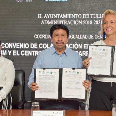 Con firma de convenio, acuerdan garantizar una mayor calidad de vida para las mujeres y sus familias en Tulum