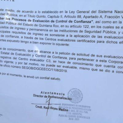 Cadetes de la Policía Municipal exigen finiquito tras despido por reprobar examen de control y confianza en Solidaridad