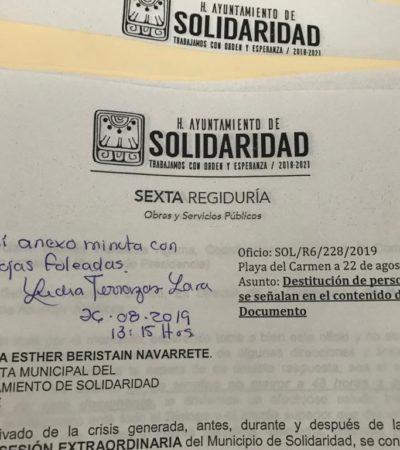 QUIEREN 'CORTAR CABEZAS' POR CASO REDESOL: Buscan regidores la destitución del Secretario General del Ayuntamiento de Solidaridad por revés de empresa concesionaria
