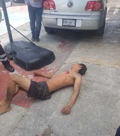 Policías localizan a sujeto que fue apuñalado atrás del 'torito' en Cancún