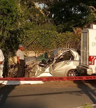 SALIÓ DE FIESTA Y YA NO REGRESÓ: Fallece joven instantáneamente al chocar su automóvil en Chetumal