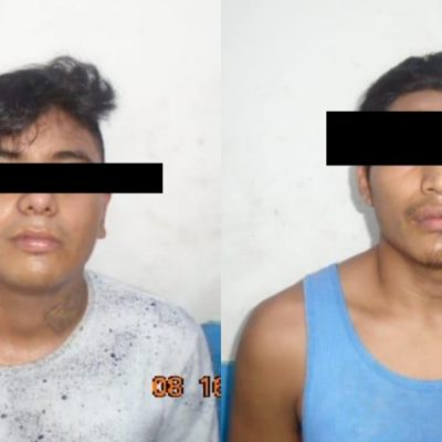 Detienen a dos sujetos por portación de arma de fuego en Tulum