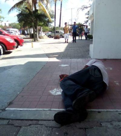 Incremento de casos de indigencia preocupa a comerciantes del centro de Cancún