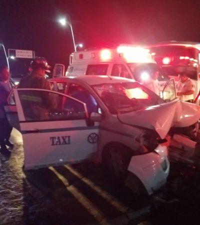 UN MURO DE CONTENCIÓN ACABÓ CON SU CARRERA: Muere taxista durante la madrugada al chocar en Playa del Carmen