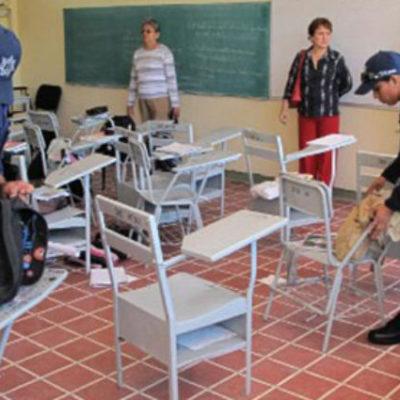 Autoridades analizan si se aplicará el 'Operativo Mochila' en escuelas de Cancún