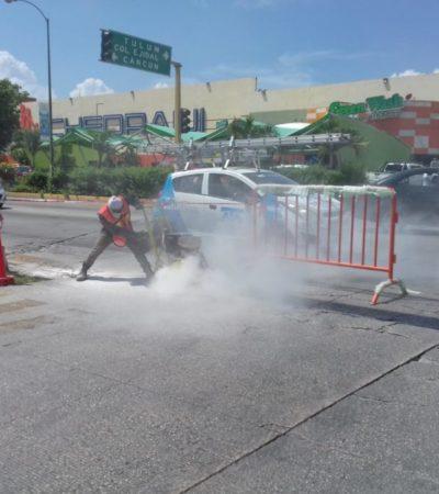 Primera etapa de reparación de la avenida 115 en Playa del Carmen durará 60 días