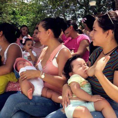 LACTANCIA MATERNA, UN ACTO DE AMOR QUE GENERA BENEFICIOS PARA TODA LA VIDA: Con tetada y semana de información, promueven la lactancia como base del desarrollo y crecimiento de los bebés