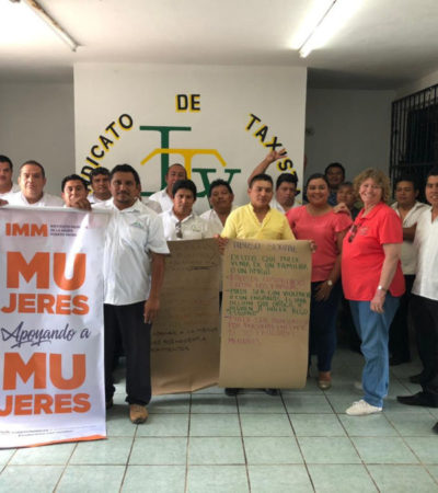 """Imparten plática sobre """"Abuso sexual y trata de personas"""" a taxistas de Puerto Morelos"""