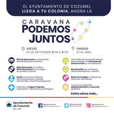 Anuncia Pedro Joaquín la segunda jornada de la 'Caravana Podemos Juntos' en Cozumel