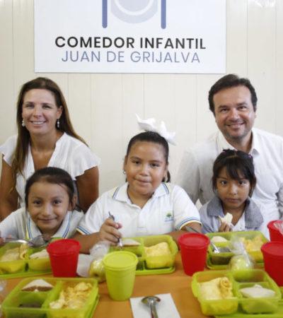 Proporcionan 175 mil desayunos escolares a estudiantes mediante programa municipal de Cozumel