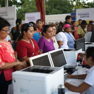 Atienden a más de mil 800 personas durante la segunda jornada de la Caravana Podemos Juntos en Cozumel