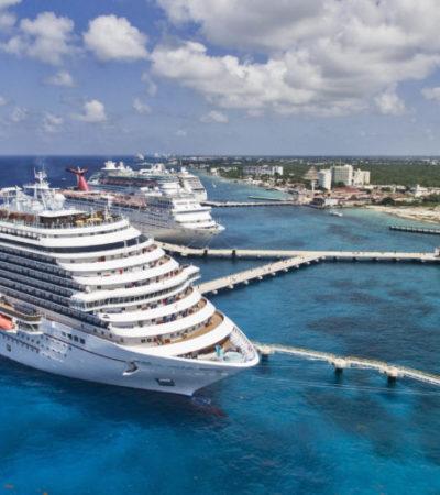 Cozumel mantiene liderazgo en turismo de cruceros, con un incremento del 8% en lo que va del año