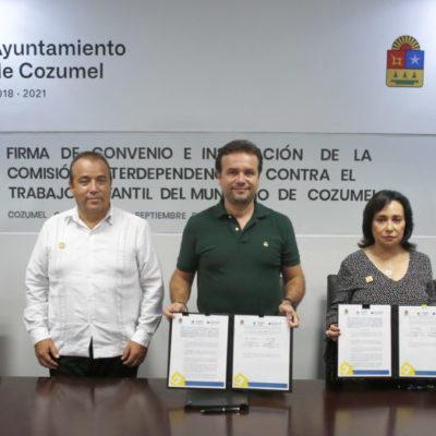 Refrenda Cozumel compromiso de trabajar para proteger la educación e integridad de las niñas, niños y adolescentes