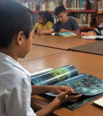 Aumentan acervo de la biblioteca pública de Cozumel y promueven lectura con 23 programas para niños y jóvenes