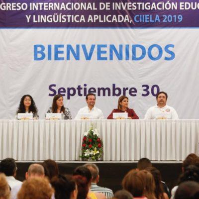Inauguran el primer Congreso Internacional de Investigación Educativa y Lingüística Aplicada 2019 en Cozumel
