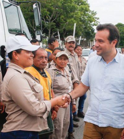 Ponen en marcha el programa permanente de eliminación de criaderos de moscos en colonias de Cozumel
