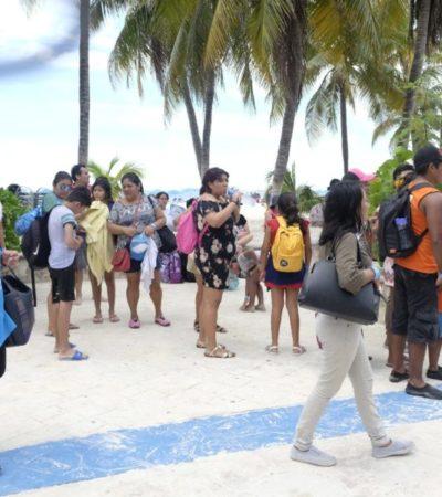 """Trabajadores del sector turístico conocen Isla Mujeres durante el programa """"De aquí soy"""""""