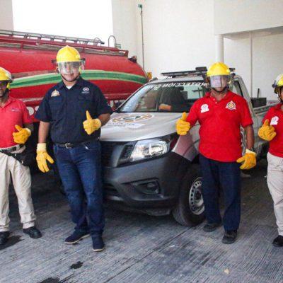 Entregan equipamiento al cuerpo de bomberos de Isla Mujeres