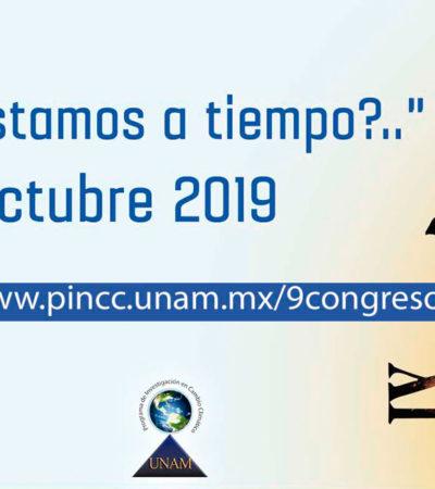 Cancún será sede del IX Congreso Nacional de Investigación en Cambio Climático
